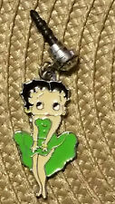 Betty Boop Green short Cha Cha dress Cell Phone Dust Plug