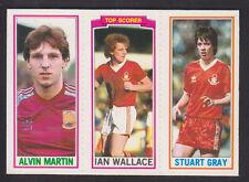 Topps - Footballers (Blue Back) 1981 - # 81 123 157 Nottingham Forest West Ham