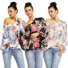 Markenlose geblümte taillenlange Langarm Damenblusen, - tops & -shirts