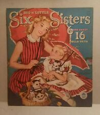 Merrill Vintage Big 'n Little Six Sisters & Pets 6 and Sweet 16 Paper Dolls Pets