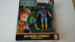 SCOOB! MOVIE - SCOOBY-DOO TWIN PACK FIGURES - BLUE FALCON AND DYNOMUTT NEW V#1