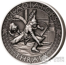THRAEX Gladiators 2 Oz Silver Coin 5$ Solomon Islands 2017