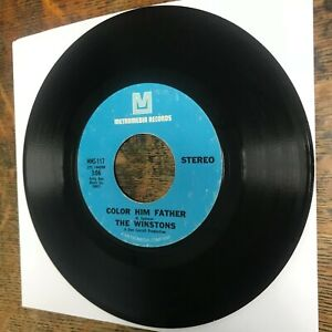 """WINSTONS Color Him Father / Amen, Brother 7"""" single 45 RPM METROMEDIA VG+ Record"""