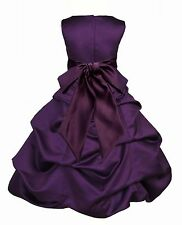 ELEGANT PURPLE GRAPE FLOWER GIRL DRESS WEDDING SHIPPED FROM U.S.A. FREE SHIPPING