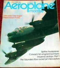 Aeroplane Monthly Magazine 1974 July Imperial Airships,Convair B-36,SR-53,SR-177