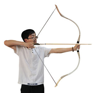 Recurve Bow 30-70lbs Archery Hunting Mongolian Horsebow Longbow Shooting Target