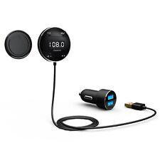 Riida GB01 Inalámbrico Bluetooth Coche Kit Transmisor FM con pantalla LCD y las manos F