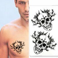 Temporäres Tattoo Totenkopf Chimära Design Temporary Klebetattoo Körperkunst