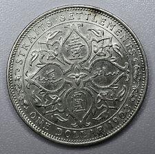 Straits Settlements 1 Dollar 1903 B, AU+, Incuse, silver crown, KM#25, $1 China