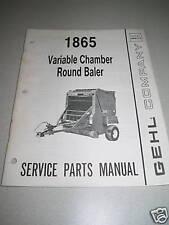 Gehl RB1865 (1865) Round Baler Parts Manual