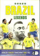 Brazil Brazilian Football Legends : Ronaldo Ronaldhino Kaka Pele Rivaldo 3 DVDs
