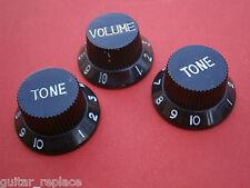 Knobs Stratocaster Negro Black Potenciometro Botones Poti Knopfe Boutons