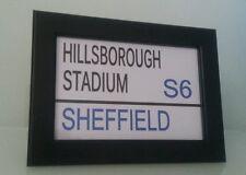 "Sheffield Wednesday  Framed Stadium Street Sign.  6"" x 4"" . Ideal gift"