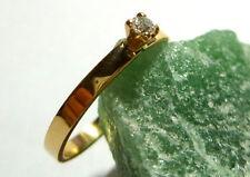 Toller Ring 55 (17,5 mm Ø) 585/14k Gold Brillant 0,06ct Diamant - Solitaire