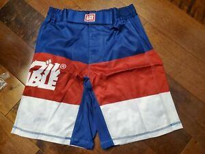 Scramble RWB grappling fight shorts, MMA UFC, bjj, jiu jitsu, grappling, Mens 34