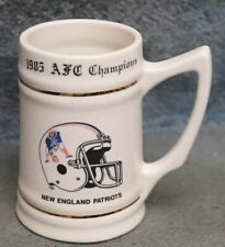 NEW ENGLAND PATRIOTS COLLECTOR STEIN 1985 AFC CHAMPION NFL FOOTBALL SUPER BOWL