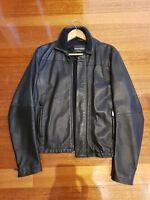 Emporio Armani Men's Jacket 100% Leather Size Small USA IT 46 RRP $700.00