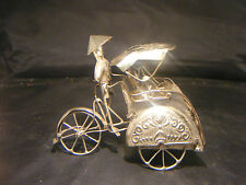 VINTAGE CHINESE EXPORT CANTON SILVER RICKSHAW BICYCLE