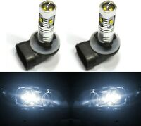 LED 30W 886 H27 White 5000K Two Bulbs Fog Light Replacement Upgrade Lamp OE