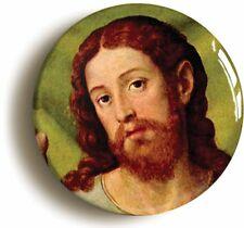 JESUS CHRIST PORTRAIT BADGE BUTTON PIN (Size is 1inch/25mm diameter)