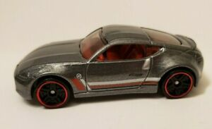 RARE 2009 Hot Wheels Silver Nissan 370Z - Red Line Wheels - Excellent Condition