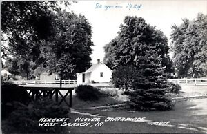 Four RPPCs Birthplace of President Herbert Hoover in West Branch, Iowa~132148