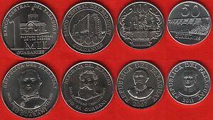 Paraguay set of 4 coins: 50 - 1000 guaraníes 2007-2011 UNC