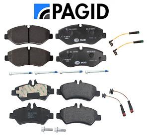 Front Brake Pads & Rear Brake Pads Set OEM Pagid + Sensors Sprinter 2500