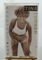 """VINTAGE Tina Turner's """"Greatest Hits"""" Cassette Tape RDM Records #S41X-17958/1994"""