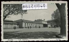 Alès ( Gard ) la gare . chemin de fer  . photo ancienne . Juillet 1939