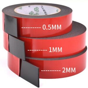 2pcs/1pcs 0.5mm-2mm thickness Super Strong Double side Adhesive foam Tape
