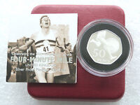 2004 Roger Bannister Piedfort 50p Fifty Pence Silver Proof Coin Box Coa