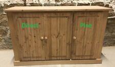 AYLESBURY RANGE PINE 3 DOOR SIDEBOARD CUPBOARD WITH SHELF IN OAK WAX