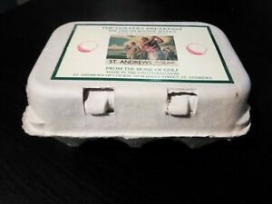 (NEW) The Golfers Breakfast - 6 Fresh Range Golf Balls - In Egg Box. St. Andrews