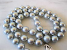 New 8mm natural tahitian gray shell pearl necklace 18 inch