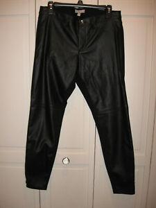 Banana Republic 6 Black Faux Leather Sloan Skinny Ankle Dress Pants Zip Ankle