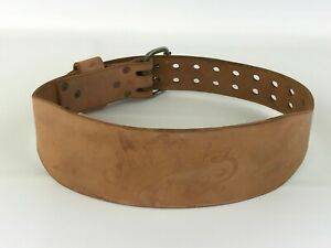 """Vintage Atlus 4"""" Leather Weight Lifting Belt Size Small 24-28 Gym Training"""