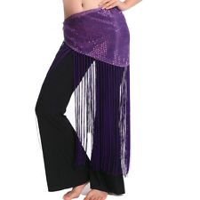New 2018 Lady  Belly Dance Costumes Hip Scarf Wrap Belt Skirt Sequins triangle