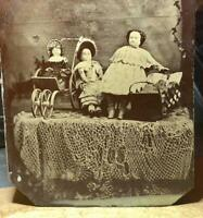 Antique Unusual Toy Dolls Display 1860s 1870s Rare Photo 1800s