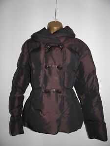 M&S Per Una Padded quilted Coat Jacket size medium Brown