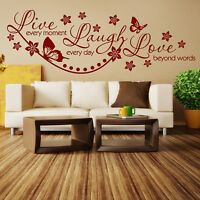 Wall Quotes Live Laugh Love Wall Sticker Vinyl Wall Art wall quote sticker N38