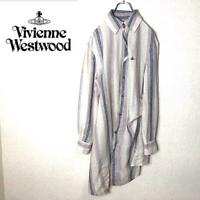Vivienne Westwood man Long shirt Stripe White From Japan Free shipping