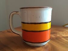 EUC! Vintage Hearthside Buffet Ware No 554 Coffee MUG CUP 1970's Orange Striped