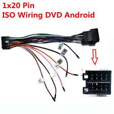 1x20 PIN ISO Cablaggio Stereo Connettore Adattatore per Auto ISO Cablaggio Dvd Android