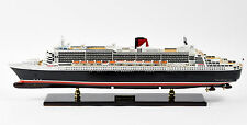 "RMS Queen Mary 2 Cunard Line Handmade Ship Model 34"" Museum Quality Scale 1/400"