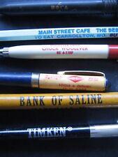6 Vtg Advertising Promo Ball Point Ink Pens Pencil Moca Timken Etc. 1 Lot