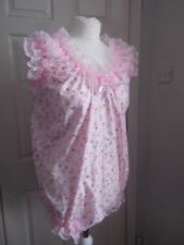 ADULT BABY~SISSY~MAIDS~UNISEX~TV/CD FRILLY BALLERINA PRINT TEDDY~ALL-IN-ONE