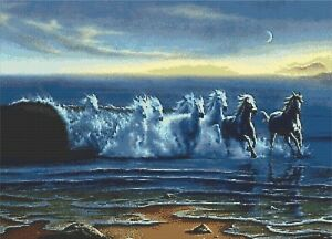 SEA HORSES # 2 - COUNTED X-STITCH CHART