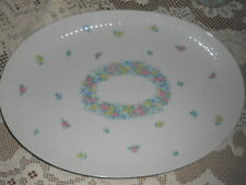 """Rosenthal Germany Garland Multicolor Romance Oval Platter Tray 15 x 10 1/2"""""""