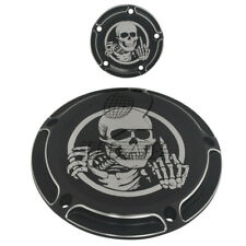 Skull Five Holes Edge Cut Derby Timing Timer Cover for Harley FXSB FLHR FLHT